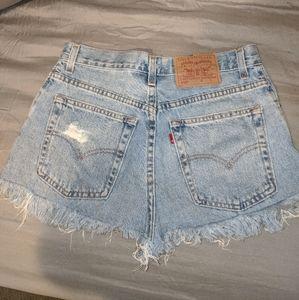 Levi's 550 501 high waisted Jean shorts